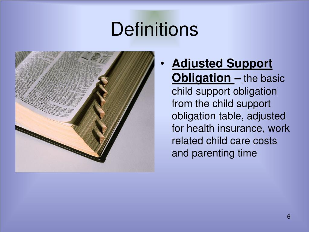 Adjusted Support Obligation