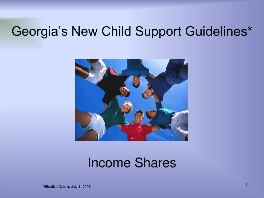 Georgia's New Child Support Guidelines*