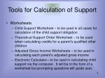 tools for calculation of support8
