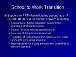 school to work transition