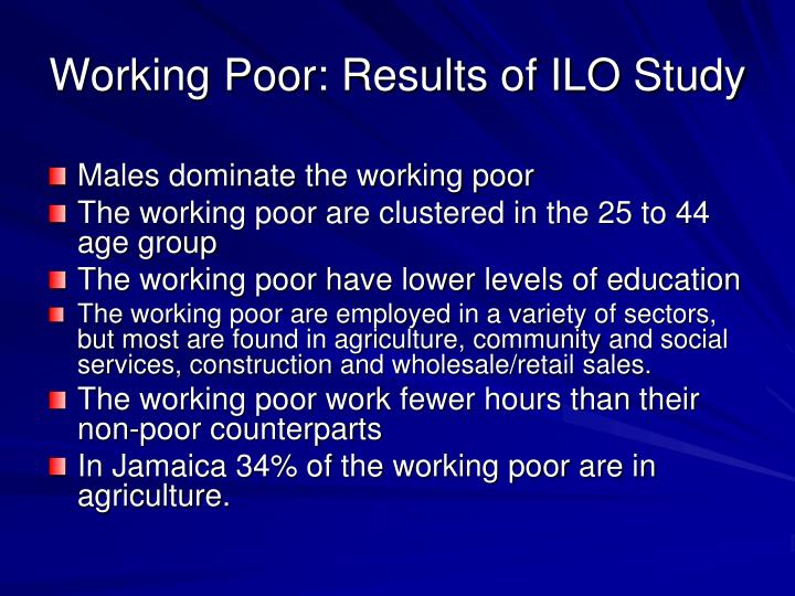 Working Poor: Results of ILO Study
