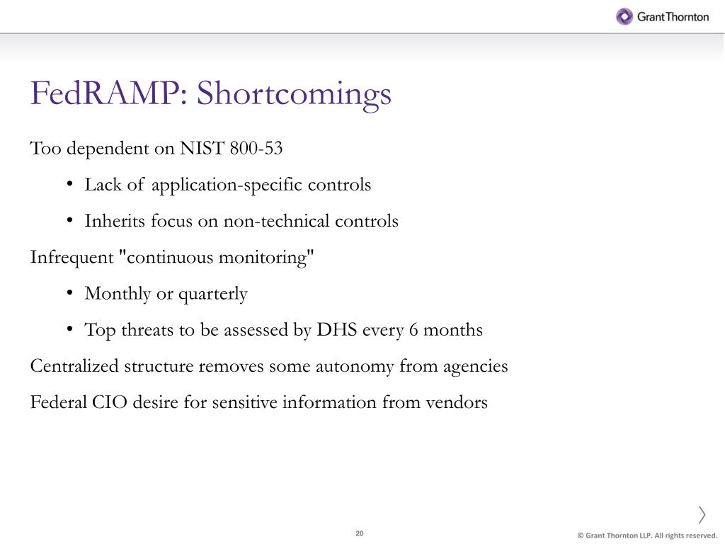 FedRAMP: Shortcomings