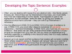 developing the topic sentence examples20