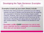 developing the topic sentence examples22