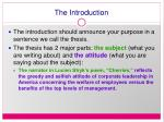 the introduction12