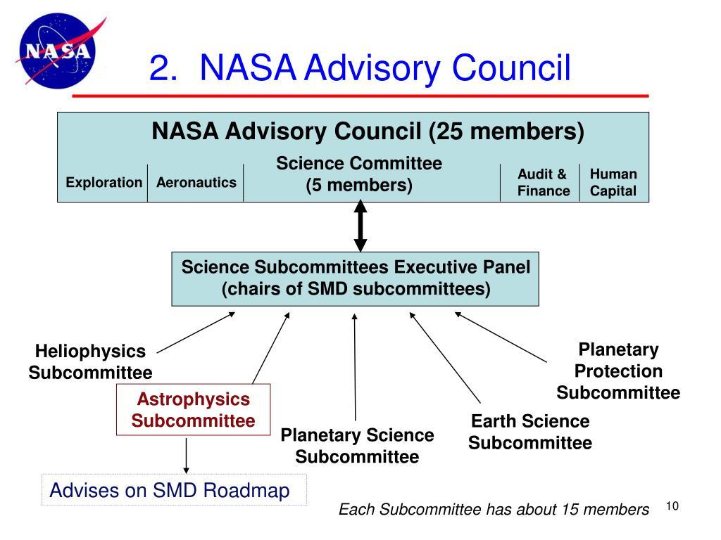 2.  NASA Advisory Council