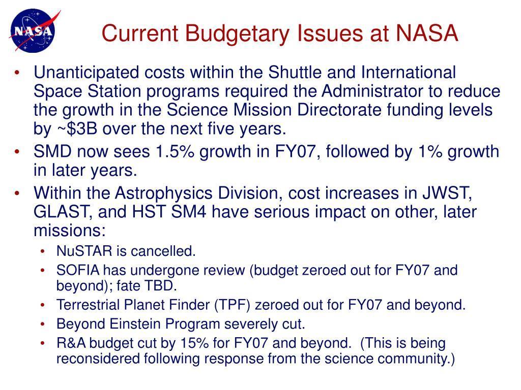 Current Budgetary Issues at NASA