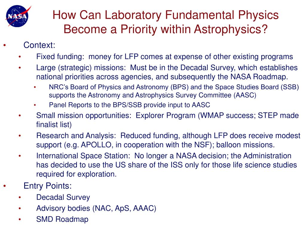 How Can Laboratory Fundamental Physics Become a Priority within Astrophysics?