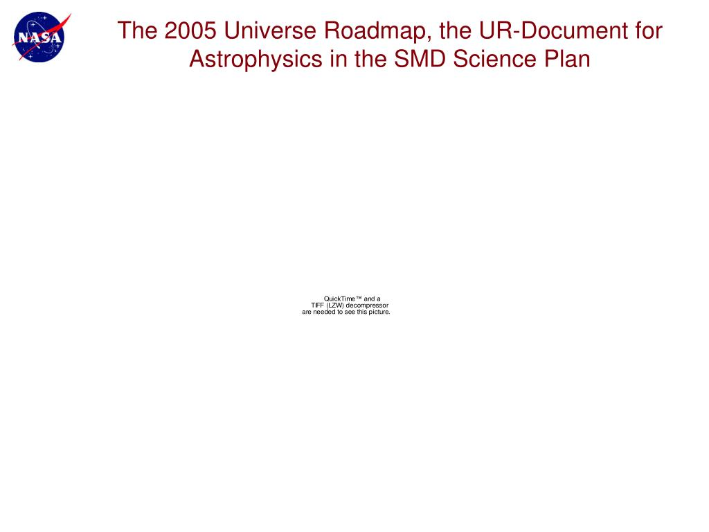 The 2005 Universe Roadmap, the UR-Document for Astrophysics in the SMD Science Plan