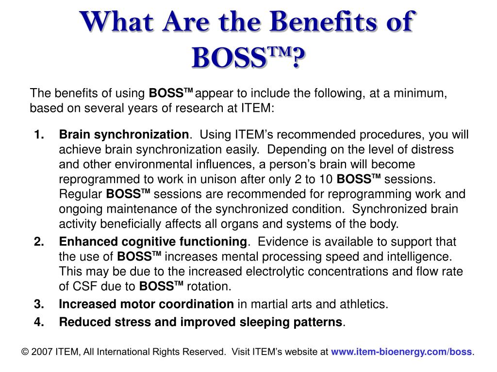What Are the Benefits of BOSS