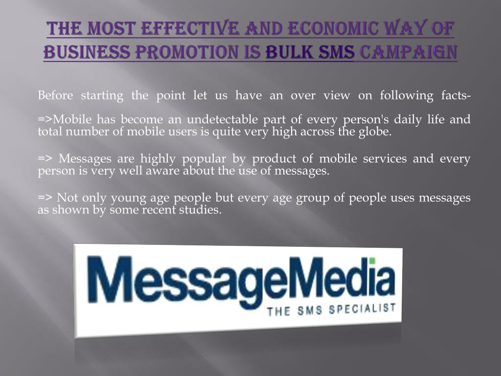 The Most Effective And Economic Way Of Business Promotion Is