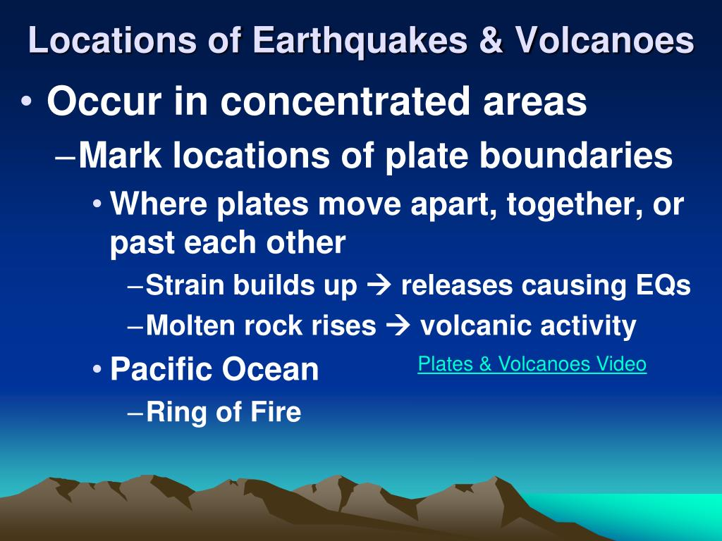 Locations of Earthquakes & Volcanoes