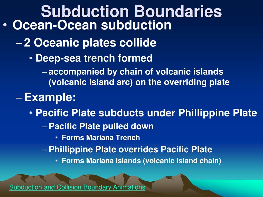 Subduction Boundaries