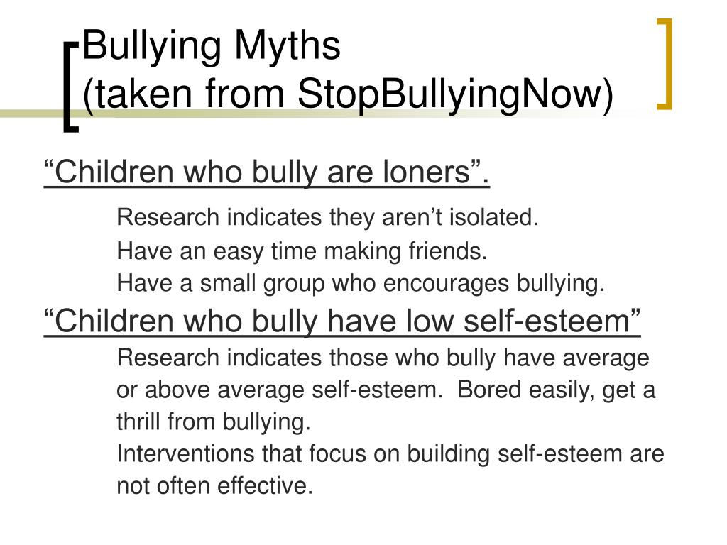 """Children who bully are loners""."