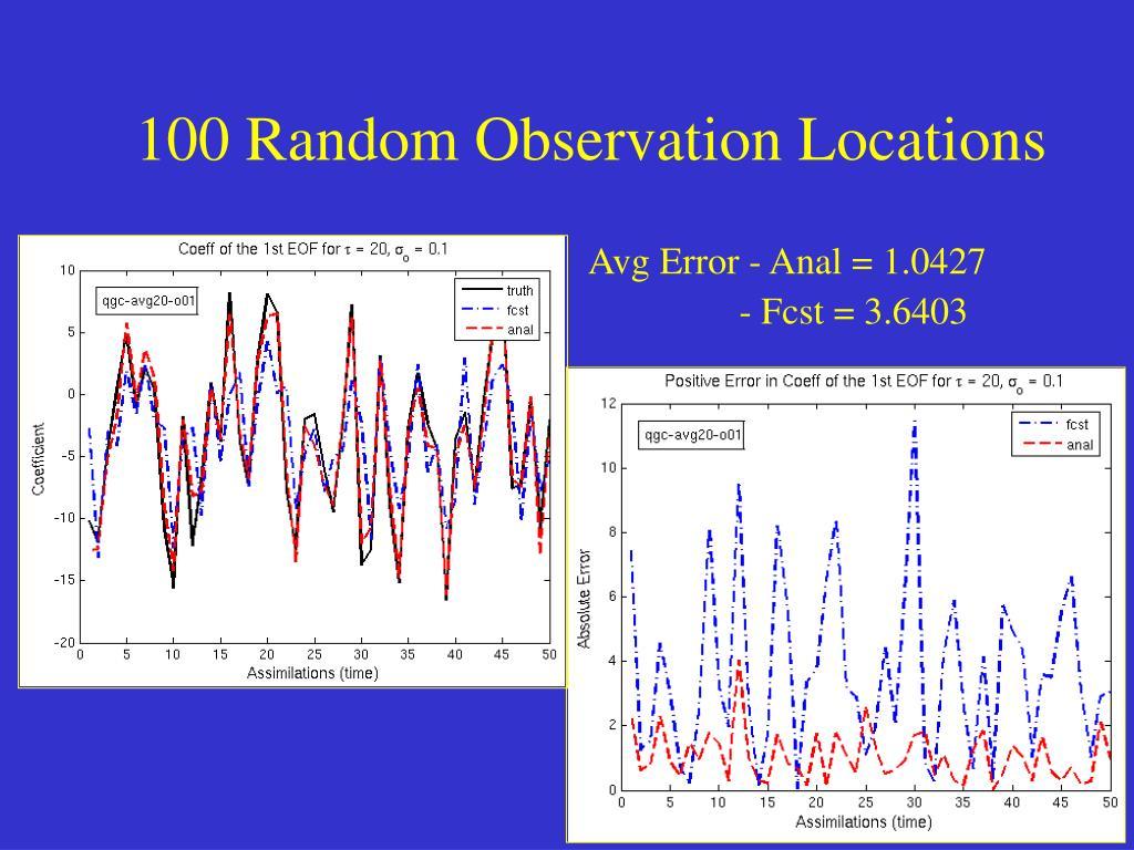 100 Random Observation Locations