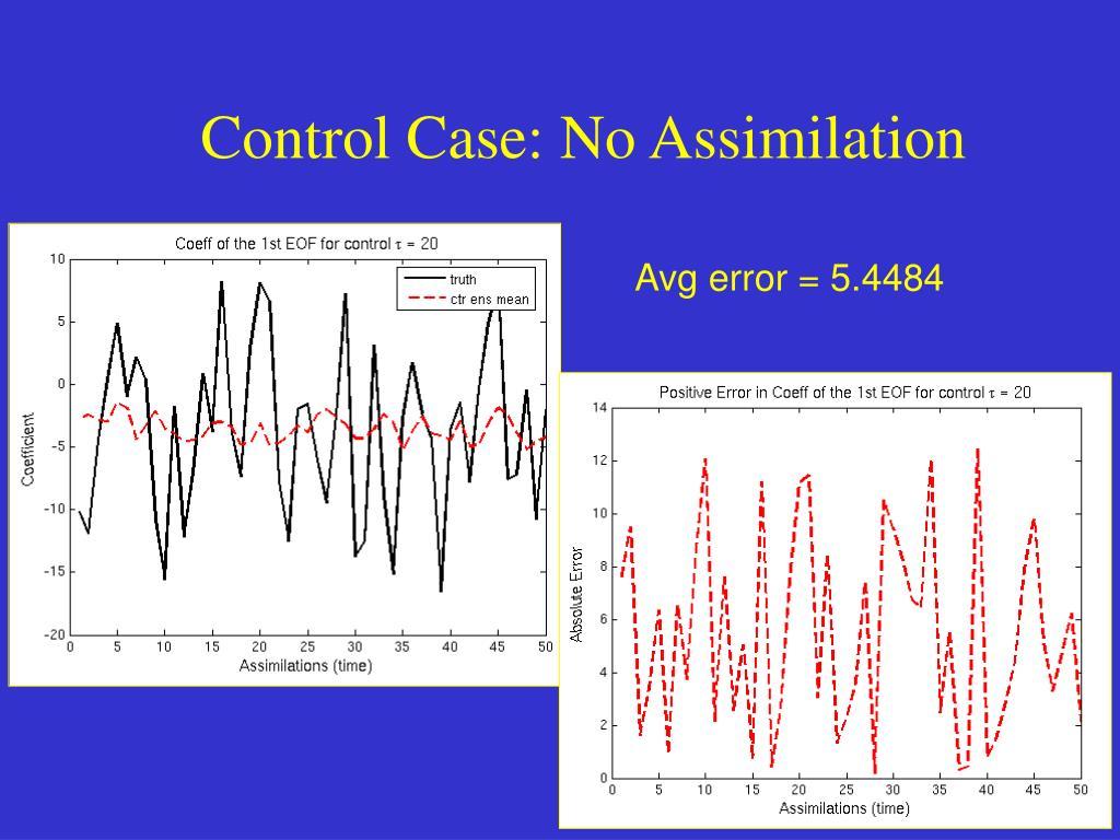 Control Case: No Assimilation
