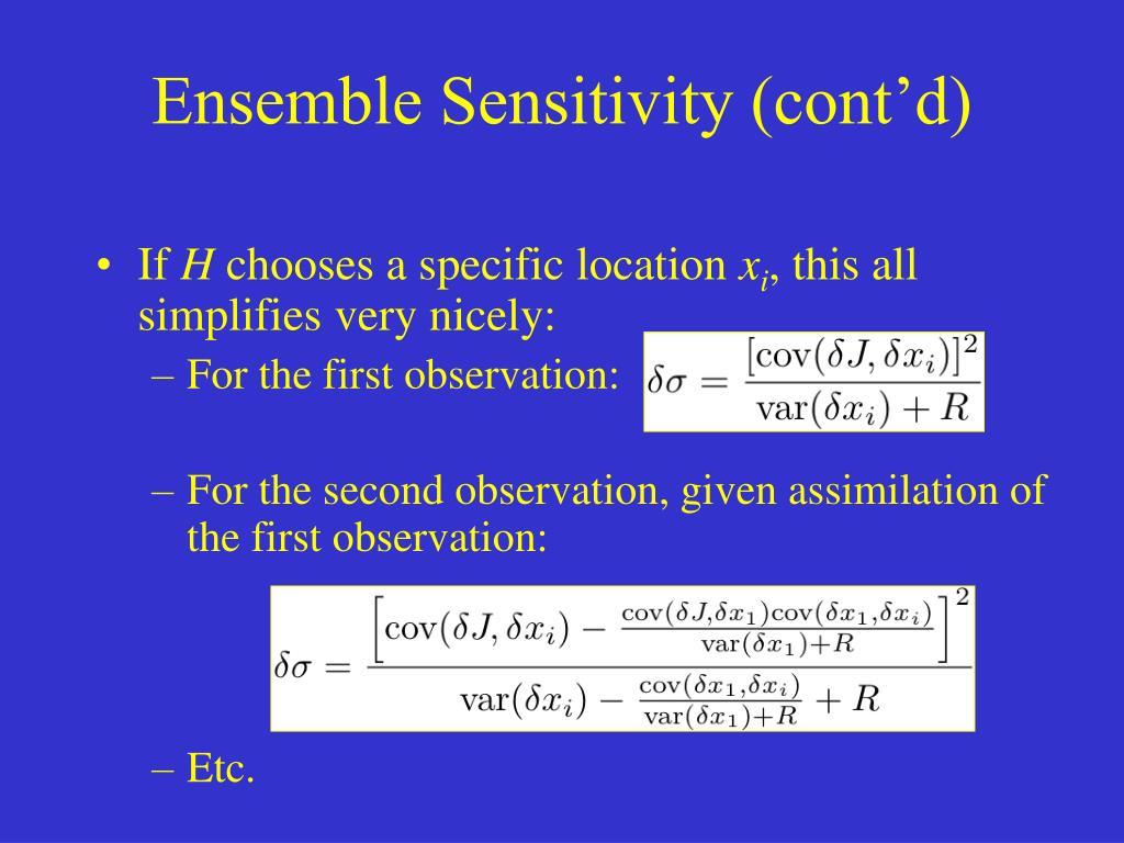 Ensemble Sensitivity (cont'd)