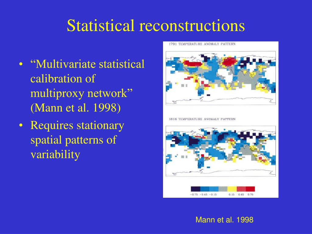 Statistical reconstructions