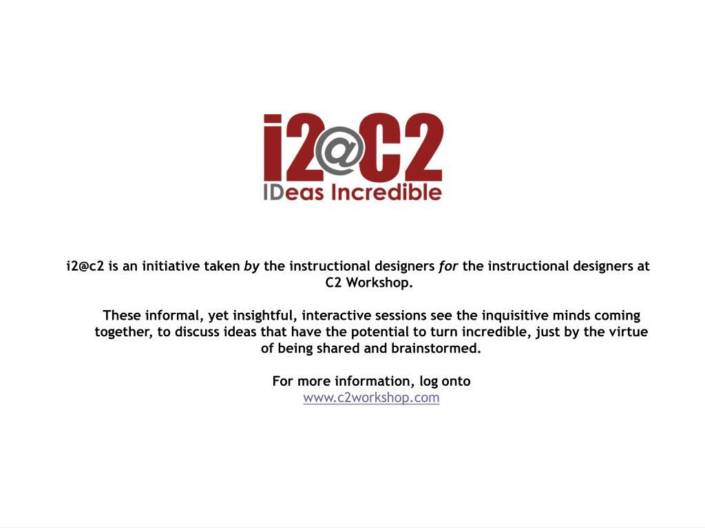 i2@c2 is an initiative taken