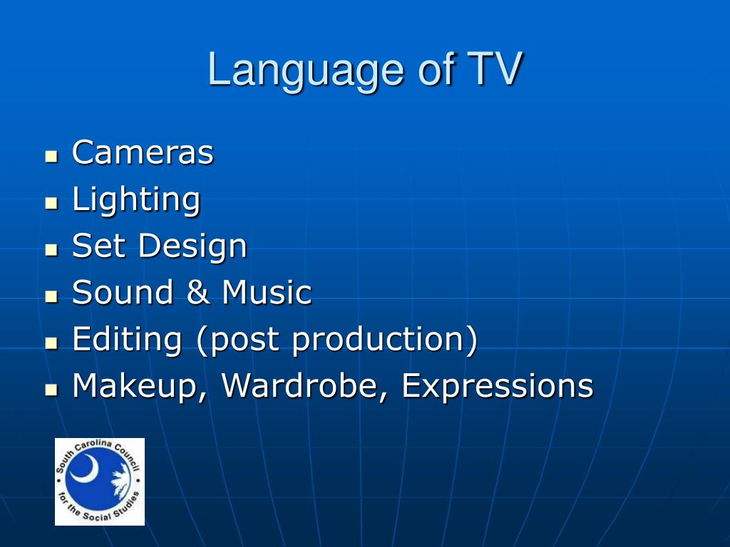 Language of TV