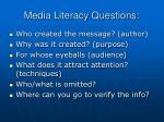 media literacy questions