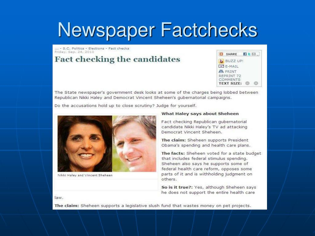 Newspaper Factchecks