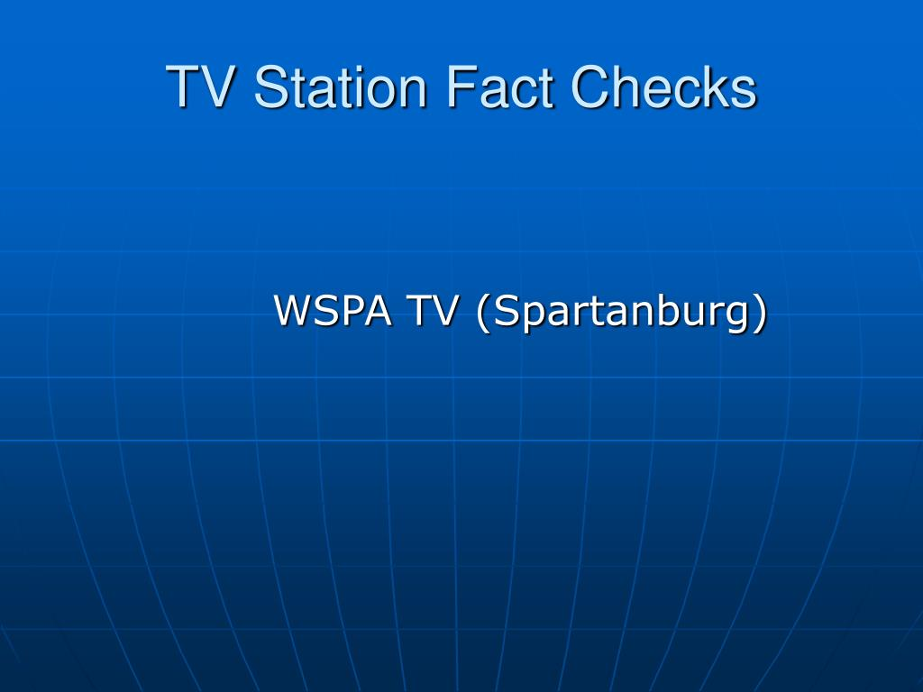 TV Station Fact Checks