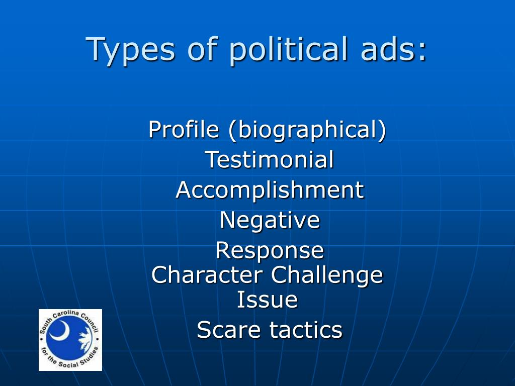 Types of political ads: