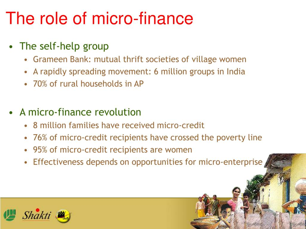 The role of micro-finance