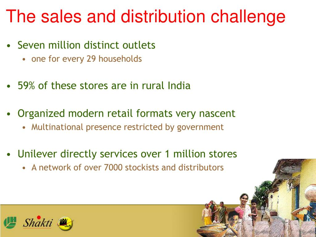 The sales and distribution challenge