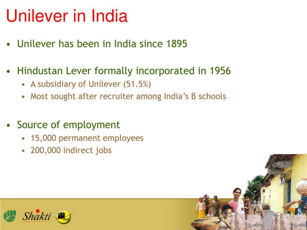 Unilever in India