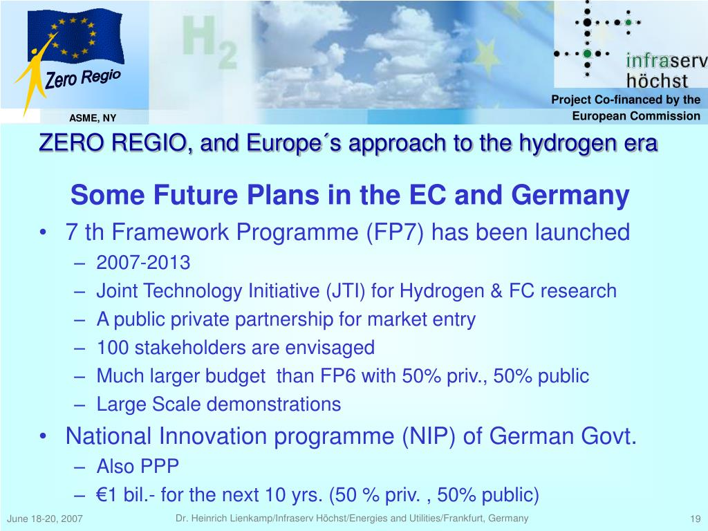 Some Future Plans in the EC and Germany