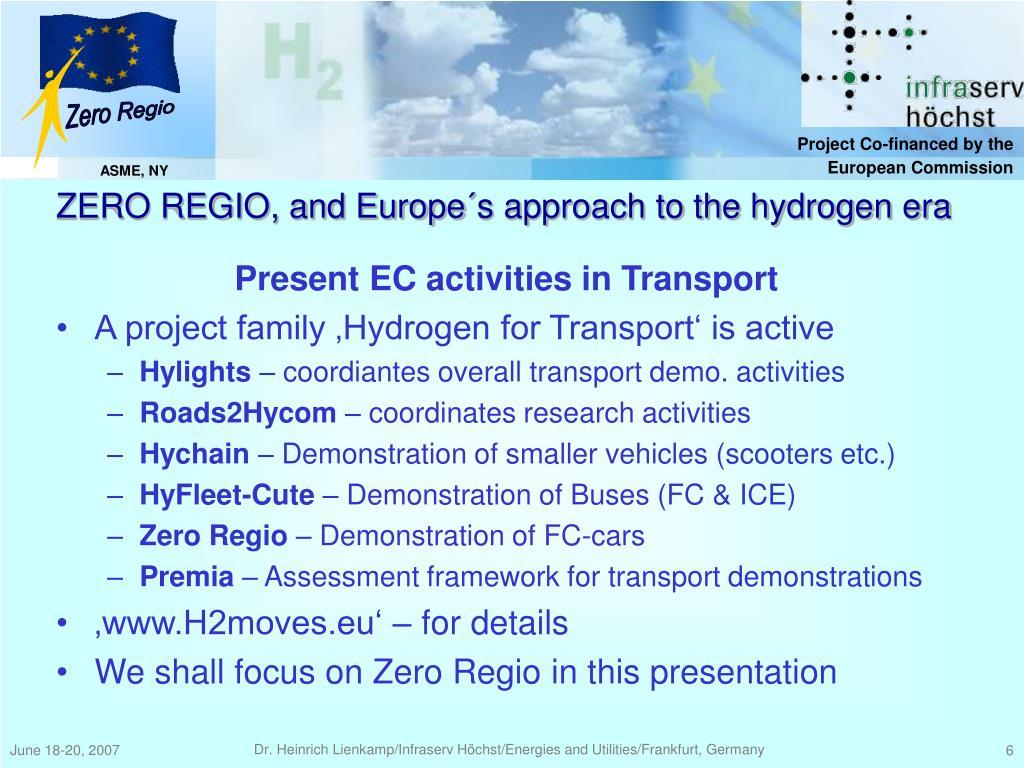 Present EC activities in Transport