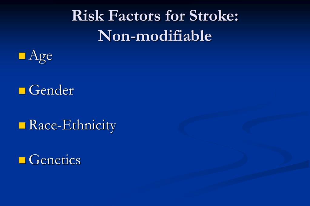 Risk Factors for Stroke: