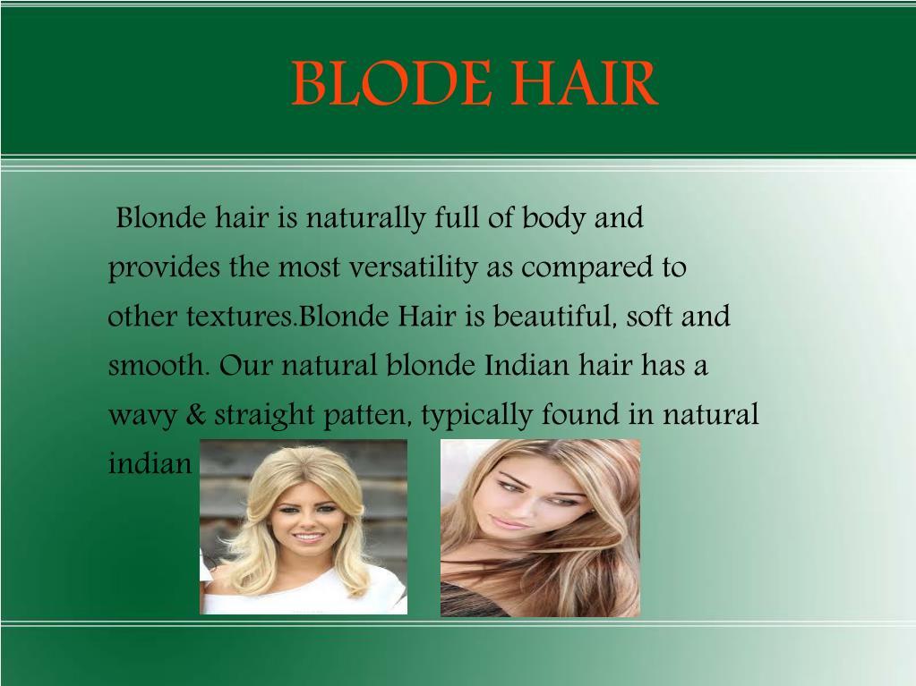 BLODE HAIR