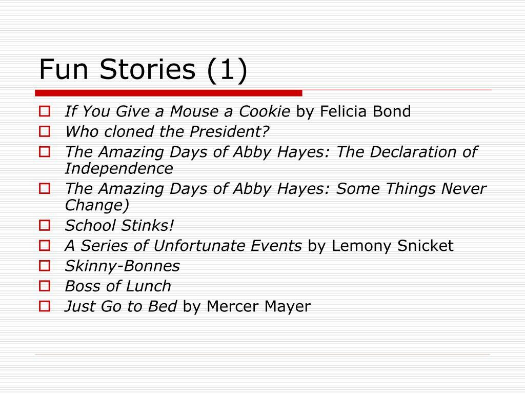 Fun Stories (1)