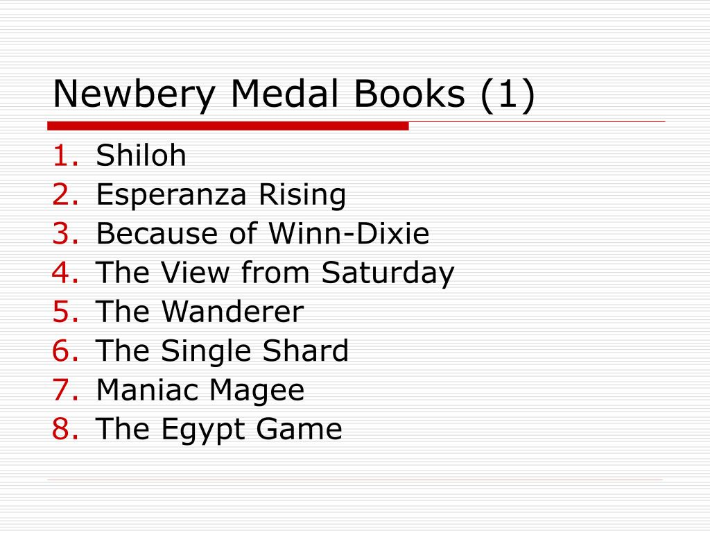 Newbery Medal Books (1)