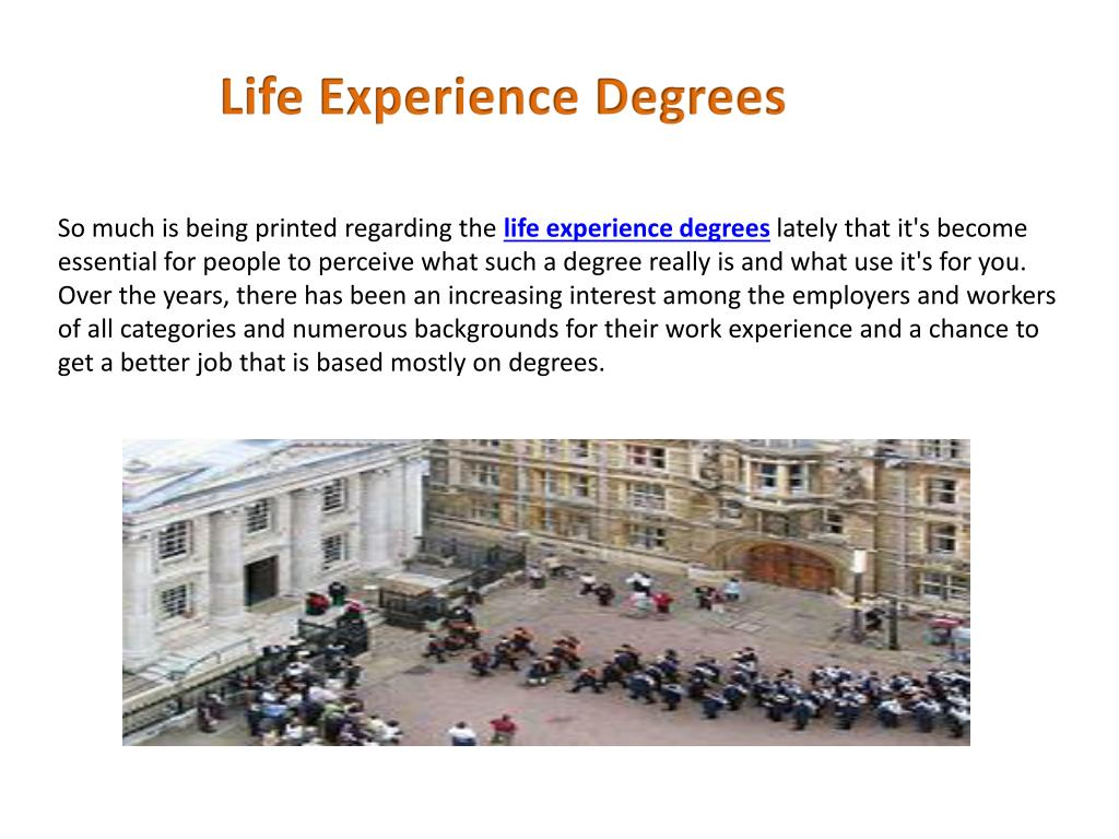 Life Experience Degrees