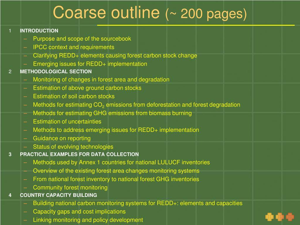 Coarse outline