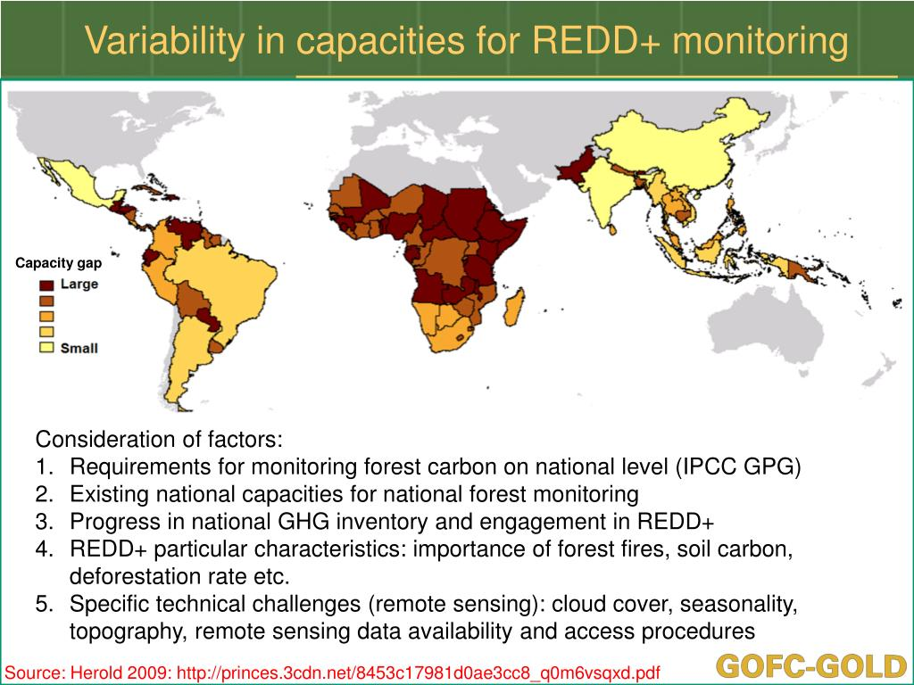 Variability in capacities for REDD+ monitoring