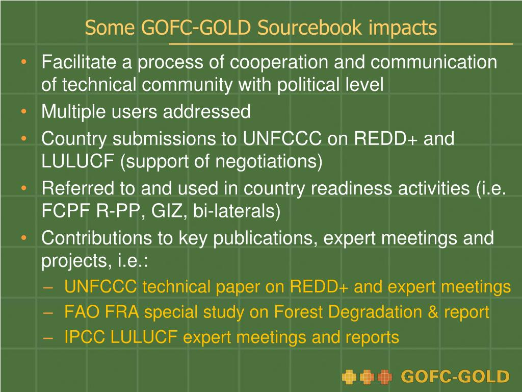 Some GOFC-GOLD Sourcebook impacts