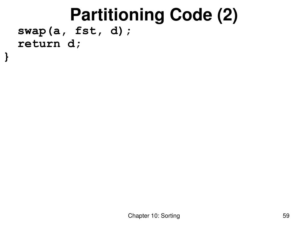Partitioning Code (2)