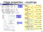 higgs properties couplings