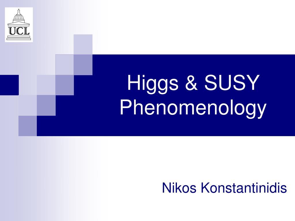 higgs susy phenomenology