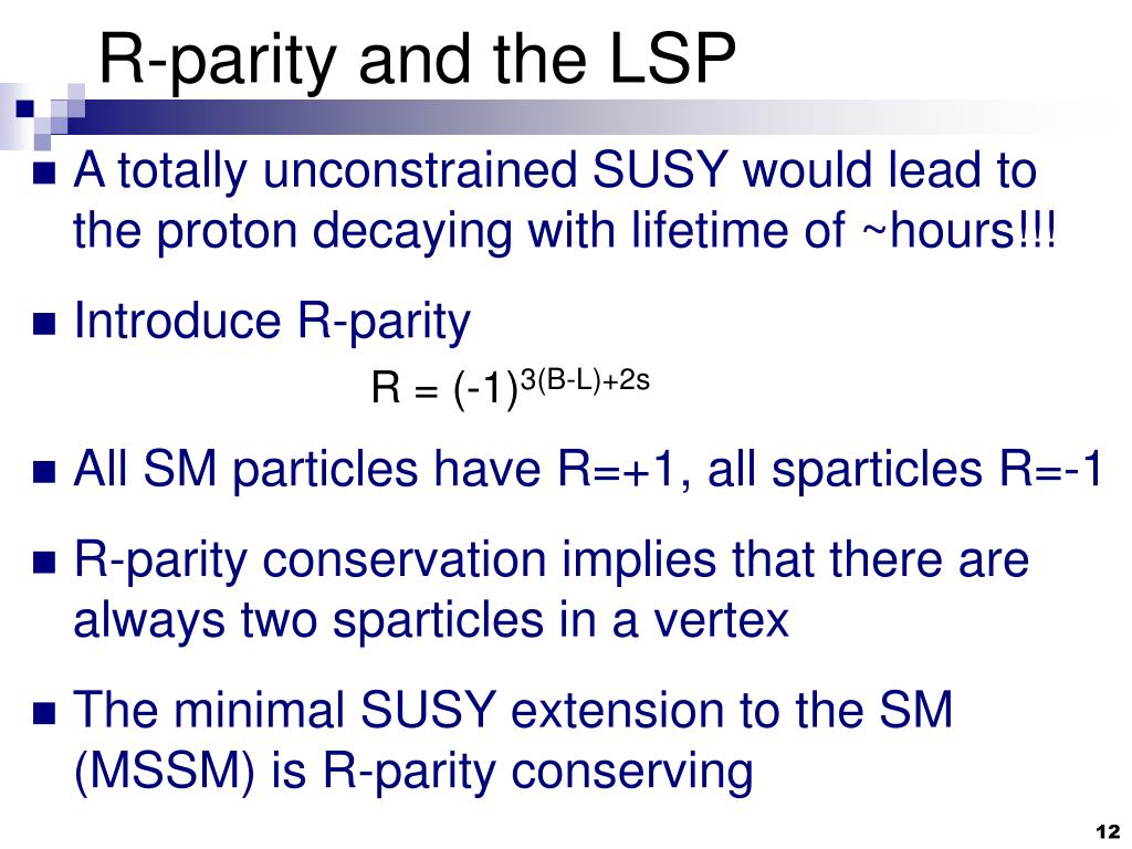 R-parity and the LSP