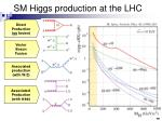 sm higgs production at the lhc