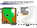 upper bound on the mass of h