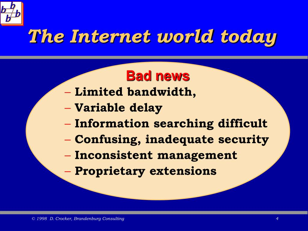 The Internet world today