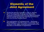elements of the joint agreement