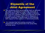 elements of the joint agreement30